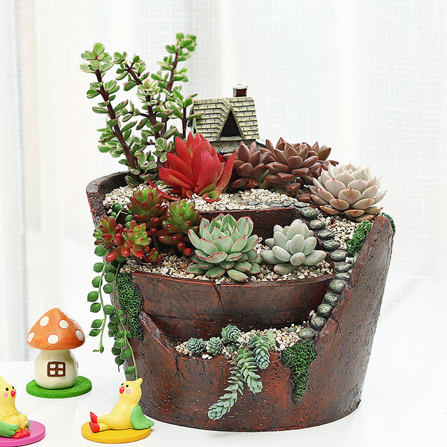 Resin Decorative Plant Pot Gardening supplies Flavored flower pot ...