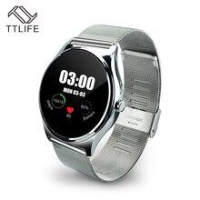Original TTLIFE Marke Pulsmesser Schrittzähler Wählen Bluetooth Smartwatch Smart Uhr Track Armbanduhr Für Android IOS