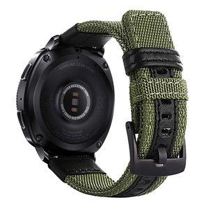 Image 1 - 삼성 기어 스포츠/갤럭시 시계 42mm/garmin vivoactive 3/ticwatch 2/e 용 easy fit 나일론 및 가죽 밴드 스트랩