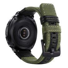 Correa de nailon y cuero para Samsung Gear Sport/Galaxy Watch 42mm/para Garmin Vivoactive 3/Ticwatch 2/E