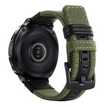 Dễ dàng Phù Hợp Với Nylon & Ban Nhạc da dây đeo cho Samsung Gear Thể Thao/Galaxy Đồng Hồ 42 mét/cho Garmin Vivoactive 3/Ticwatch 2/E