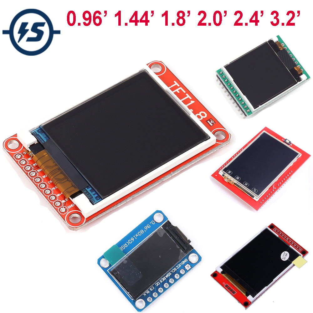 TFT LCD Display Touch Screen Shield Module For Arduino LCD Module Display Board 0.96 1.44 1.8 2.0 2.4 3.2 Inch