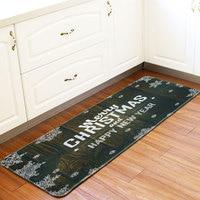 Honlaker 60x170CM Kitchen Mat Christmas Decoration Floor Mat Water Absorbent and Antiskid Kitchen Carpet Kitchen Long Rug