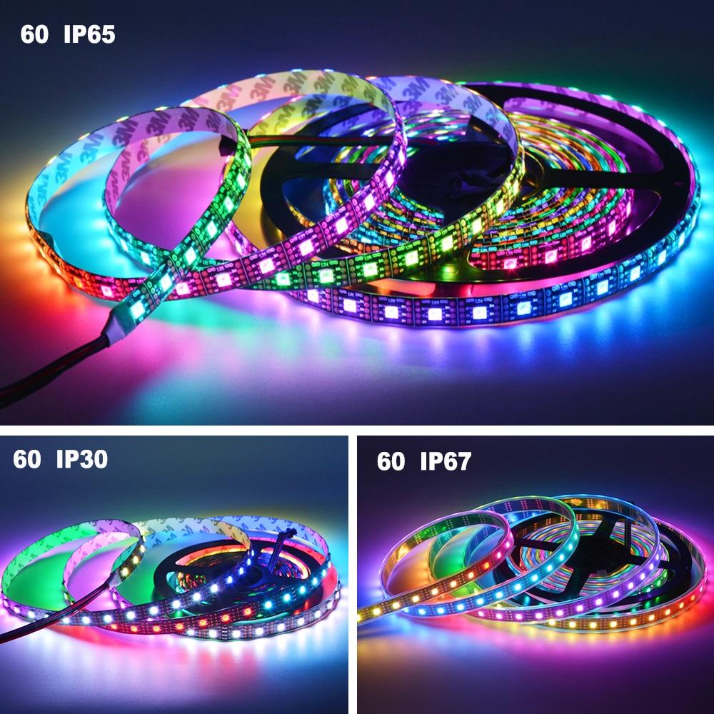 O APA102 SK9822 Bande de pixels DEL intelligente 30/60/144 DEL / - Éclairage LED - Photo 5