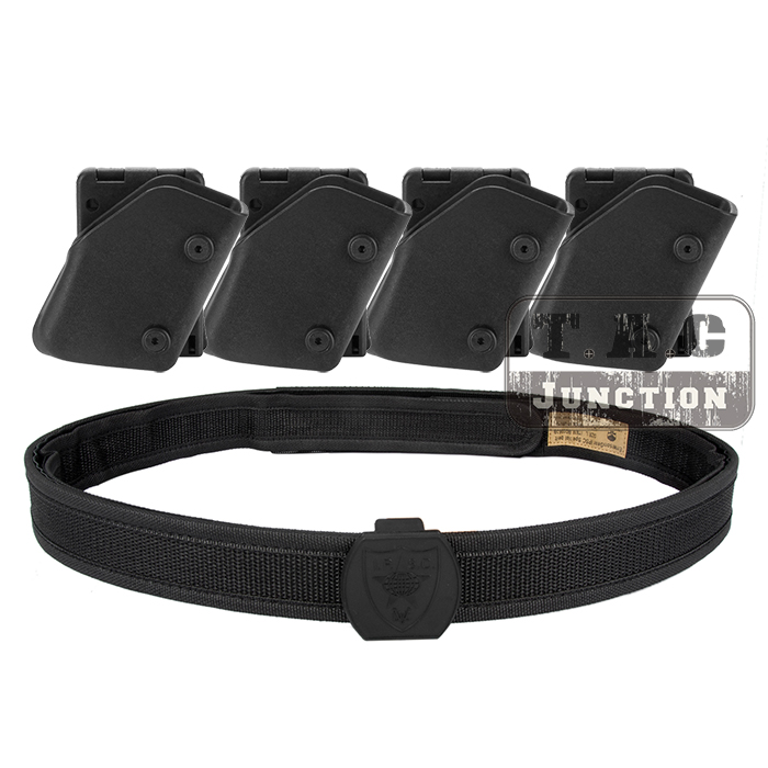 IPSC USPSA IDPA Competition High Speed Shooting Inner Outer Belt w 4x Fast Draw Pistol Magazine