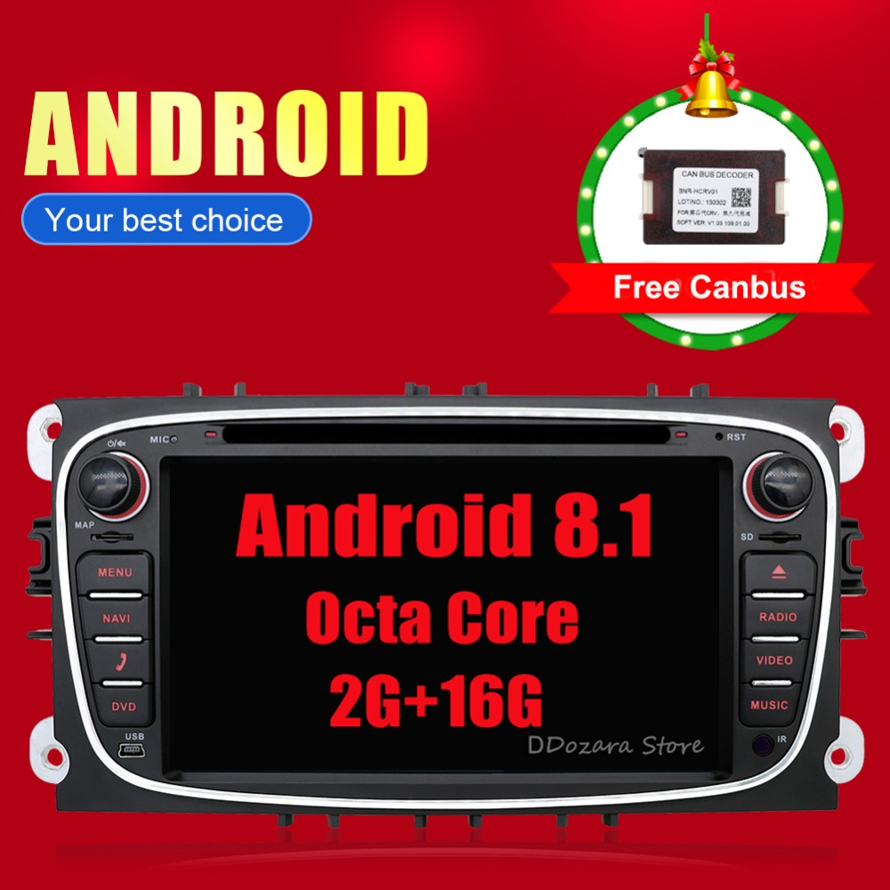 все цены на 4G Android 8.1 Octa 8 Core Car DVD Player GPS For FORD Mondeo S-MAX Connect FOCUS 2 2008 2009 2010 2011 2G RAM онлайн