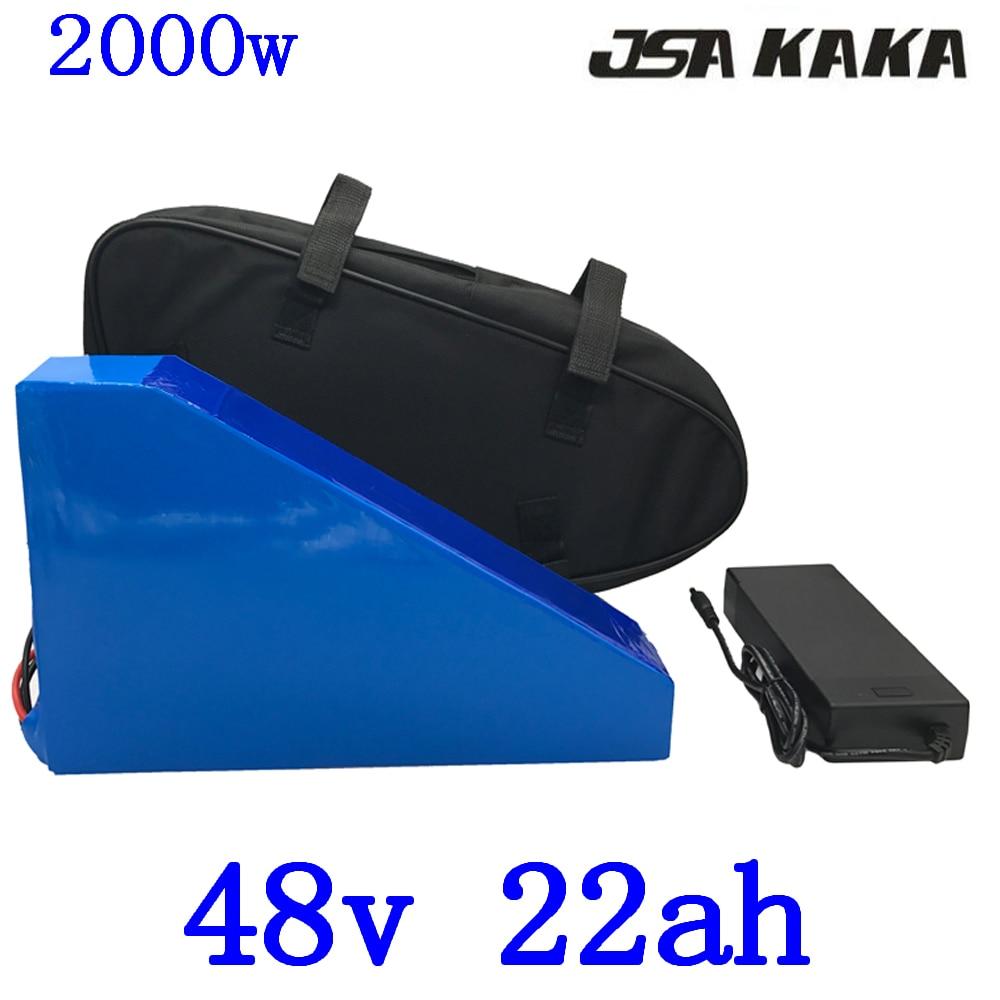 48V 2000W lithium battery 48V 22AH 2000W Electric Bike battery 48V 22AH ebike Battery with 50A BMS +54.6V 5A Charger+ free bag48V 2000W lithium battery 48V 22AH 2000W Electric Bike battery 48V 22AH ebike Battery with 50A BMS +54.6V 5A Charger+ free bag