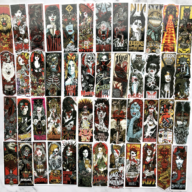 50pcs Cool Goth Style Car Stickers For Suitcase Laptop Skateboard Moto Phone Car Kids Toy Sticker Waterproof Graffiti Decals