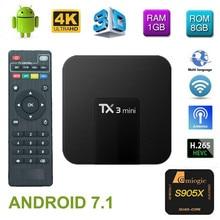 TX3 Mini tvbox set-top box Android 7.1 Quad Core Amlogic S905W ROM 4K WiFi 2G DDR3 16G 4K HD H.265 Media Player smart tv box