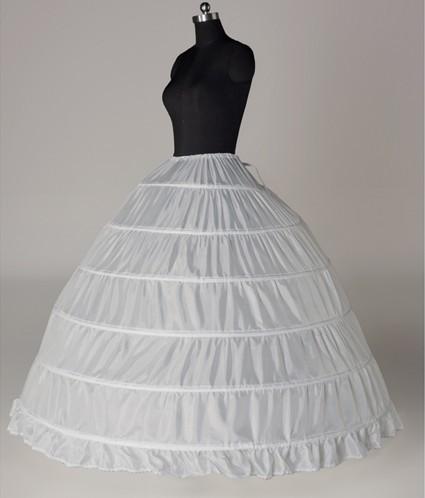 De múltiples capas Vestido de 6 aros enagua Enagua Del Vestido de Bola De Quinceañera
