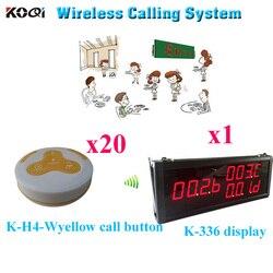 Gość stronicowania systemu restauracja wibracyjne bezprzewodowy System otrzymać telefon zwrotny od usługi (1 sztuk wyświetlacz + 20 sztuk przycisk połączenia) w Pagery od Komputer i biuro na