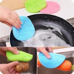 Волшебные чистящие щетки Силиконовые Блюдо чаша металлическая губка горшок кастрюля легко чистить мыть щетки моющее средство, губки блюдо