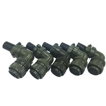 MIL-STD 5015 Servo conector estándar militar conectores de enchufe chapado en oro cobre 24-10 24-11 24 -5 24-7, 24-28