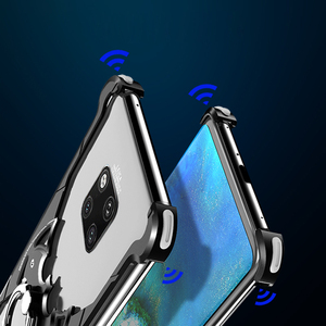 Image 5 - OATSBASF Luxus mit bat ring halter Fall Für Huawei mate 20 Pro Fall für Huawei mate 20 RS 20X Shell fall Metall Stoßfänger abdeckung
