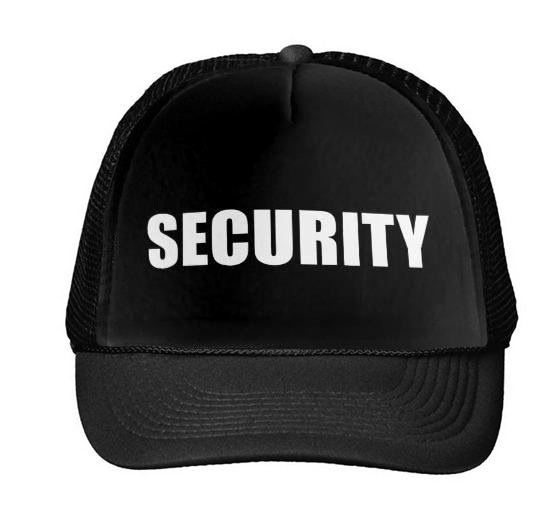 SECURITY Letters Print   Baseball     Cap   Trucker Hat For Women Men Unisex Mesh Adjustable Size Black White Drop Ship M-99