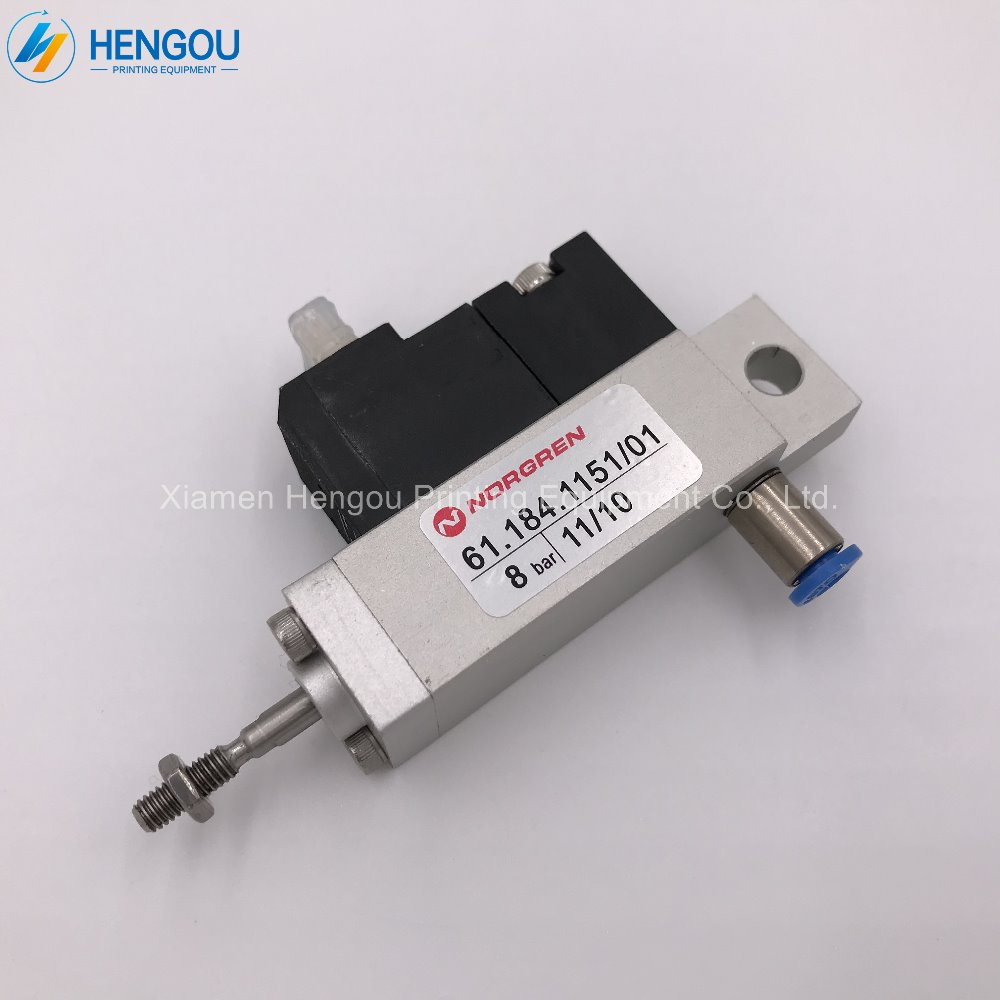 Heidelberg Cylinder/Valve Unit 61.184.1151 for SM102 CD102 SM74 printing machine parts 1 free shipping heidelberg printing machine parts 92 184 1011 heidelberg sm74 intermediate roller electromagnetic valve