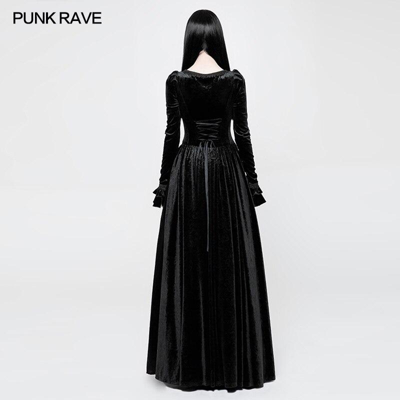 Casual Noir Wq360 Rave Palais Rétro Robe Couleurs Partie Punk Magnifique  Femmes Manches red Longues Victorienne ... 6cb66cafd04