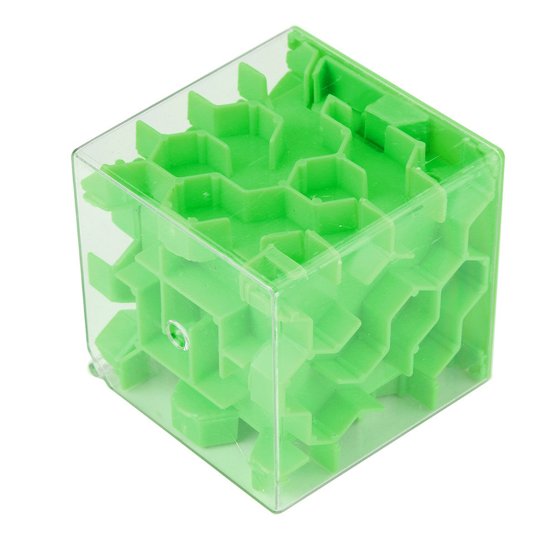 New Green 3D Cube Puzzle Money Maze Bank Saving Coin Collection Case Box Fun Brain Game Kids Toys For Children Drop Shipping