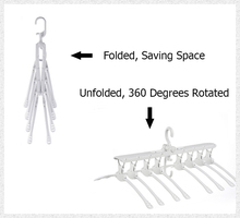 Мульти-Нескользящие компактные пластмассовые вешалки для одежды складной выдвижной шкаф Органайзер для хранения 360 шарнирный, хромированный крючок вешалка