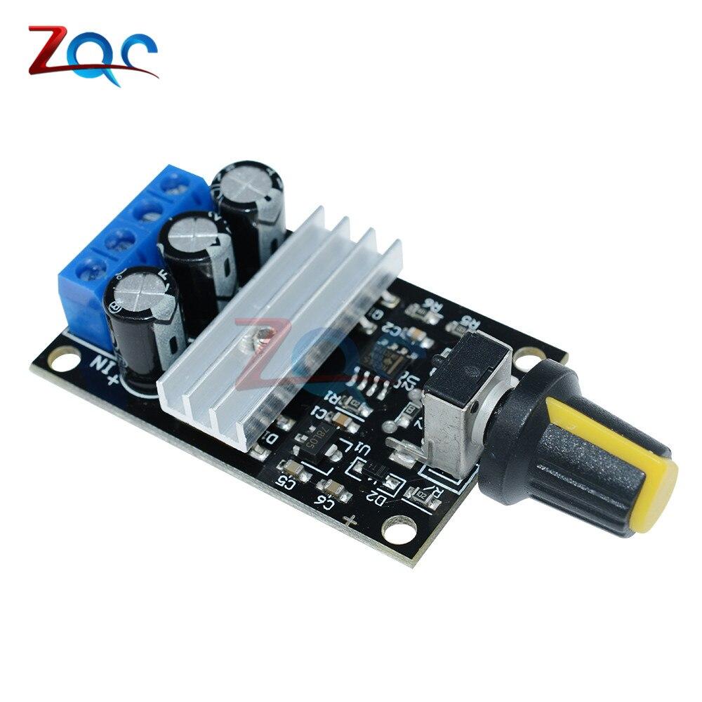 Regulador regulador de velocidad del Motor de 6V 12V 24V 28VDC 3A 80W PWM regulador de velocidad Variable ajustable con interruptor de potenciómetro
