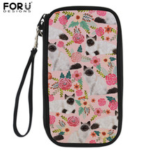 FORUDESIGNS Birman Cat Print Passport Wallet For Women Girl Cute Design Cover ID Card Holder Case Travel Purse