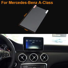 Car Styling 5.8 Inch GPS Navigation Screen Steel Protective Film For Mercedes-Benz A-Class Control of LCD Screen Car Sticker
