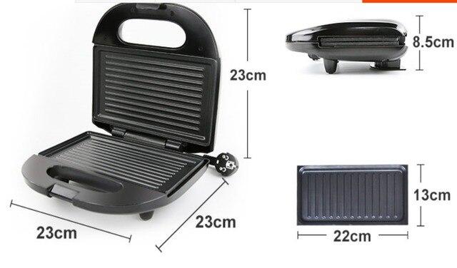 Electric Egg Sandwich Maker Mini Grilling Panini Baking Plates Toaster Multifunction Non-Stick waffle Breakfast Machine EU 3
