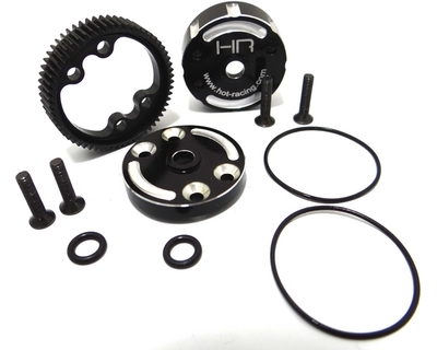 Sealed differential case with Hardened steel cog differential gear for the 2WD Traxxas Stampede, Rustler, Bandit, 2WD Slash rcsuqare hardened steel rear cvd axles set for traxxas slash stampede 4x4 rally