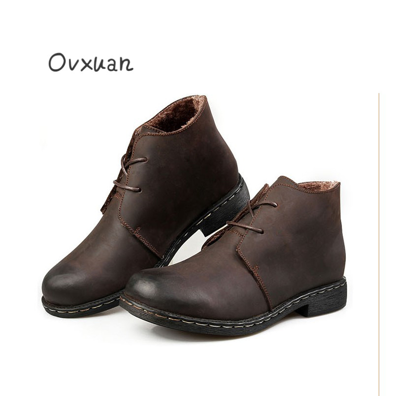 Здесь продается  Ovxuan 2018 Genuine Leather Boots Autumn Winter Ankle Boots Men Motorcycle Safety Snow Shoes Outdoor Casual Working Boots Men  Обувь
