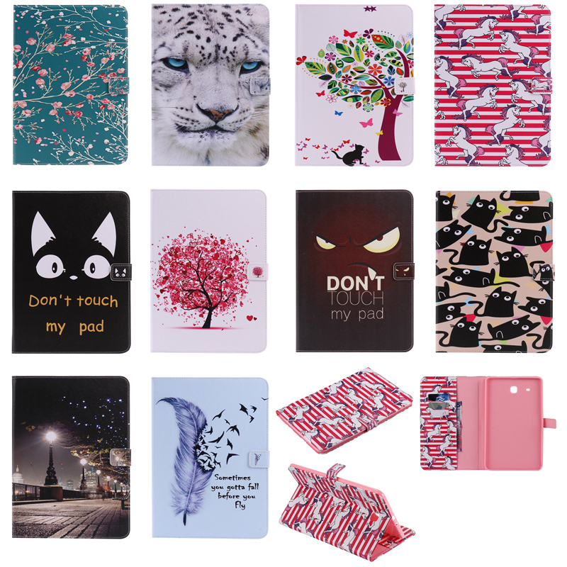 Luxury Horse Print Leather Magnetic Flip Wallet Tablet Case Bags Skins Cover Coque Funda For Samsung Galaxy Tab E 9 6 quot SM T560 in Tablets amp e Books Case from Computer amp Office