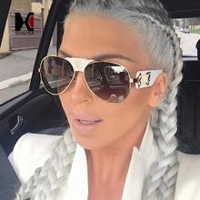 SHAUNA Luxury PU Leather Bridge Women Pilot Sunglasses Fashion Men Mirror Lens Sun Glasses UV400