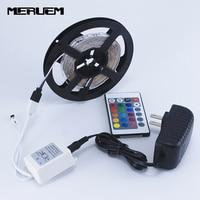 5 m 300 LED 3528 di colore RGB che cambia le strisce fleixble set + IR remote controller + 12 V 2A 24 W adattatore di alimentazione