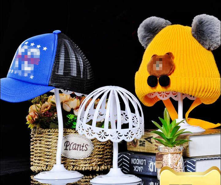 Heißer verkauf Multifunktions Kinder Kunststoff Hut Caps Lagerung Halter Rack Salon Praxis Tragbare perücke haar Display Stand für Baby