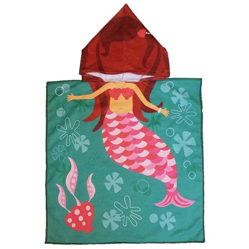 Русалка Акула Стиль Детские с капюшоном банное полотенце из микрофибры пончо Детский банный халат полотенца банные халаты абсорбент детское пляжное полотенце подарок
