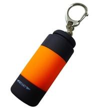 2pcs Mini Portable Flashlight Key Chain LED Key Light with Buckle (Random Color) JDH99