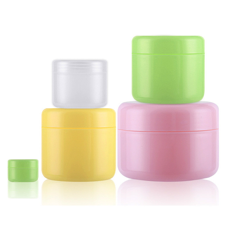 1 Pieces Quality Plastic Refillable Bottles Portable Empty Makeup Jar Pot Travel Face Cream Lotion Cosmetic Container Drop Ship