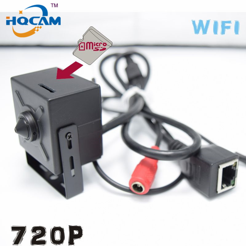 HQCAM 720P mini IP Camera Wireless Wifi Camera Indoor Onvif Support TF SD card Mini Wireless IP cam Micro TF Card Surveillance ssk scrm 060 multi in one usb 2 0 card reader for sd ms micro sd tf white
