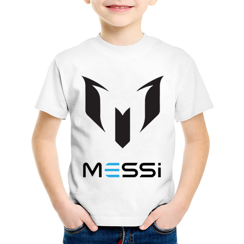 Children Fashion Print Messi Letter Logo T shirt Kids Summer Short Sleeve Clothes Boys/Girls Casual Tops Baby T shirts,HKP2218 цена и фото