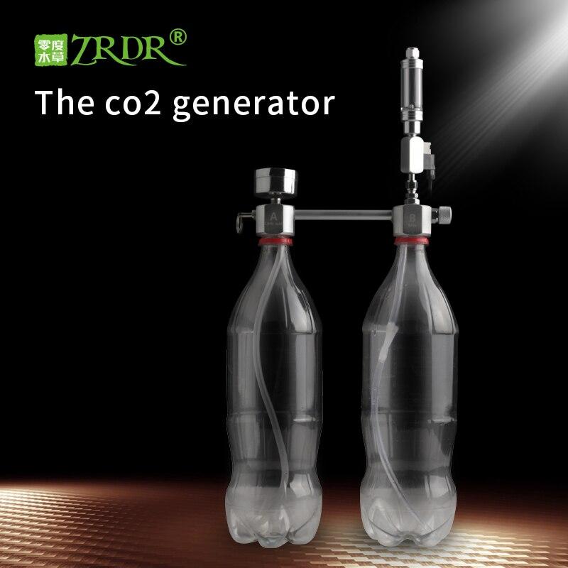 ZRDR Aquarium DIY CO2 Generator System Kit Mit Druck Luftstrom Einstellung Wasser Anlage Fisch AquariumCo2Valve Diffusor
