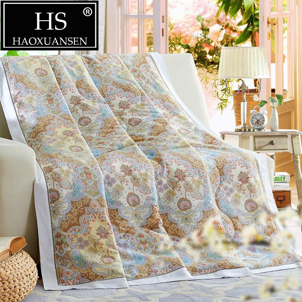 400 нитей 100% ткань Tencel Стёганое одеяло кондиционер Пейсли шаблон Одеяло Мягкий тонкое одеяло queen King Размеры бросить Одеяло
