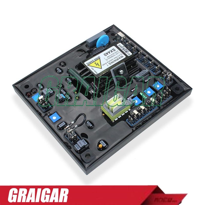 Generator Automatic Voltage Regulator SX440 Generator Excitation AVR(BLUE) brush phase compound excitation generator stl 3 voltage regulator avr voltage regulator board