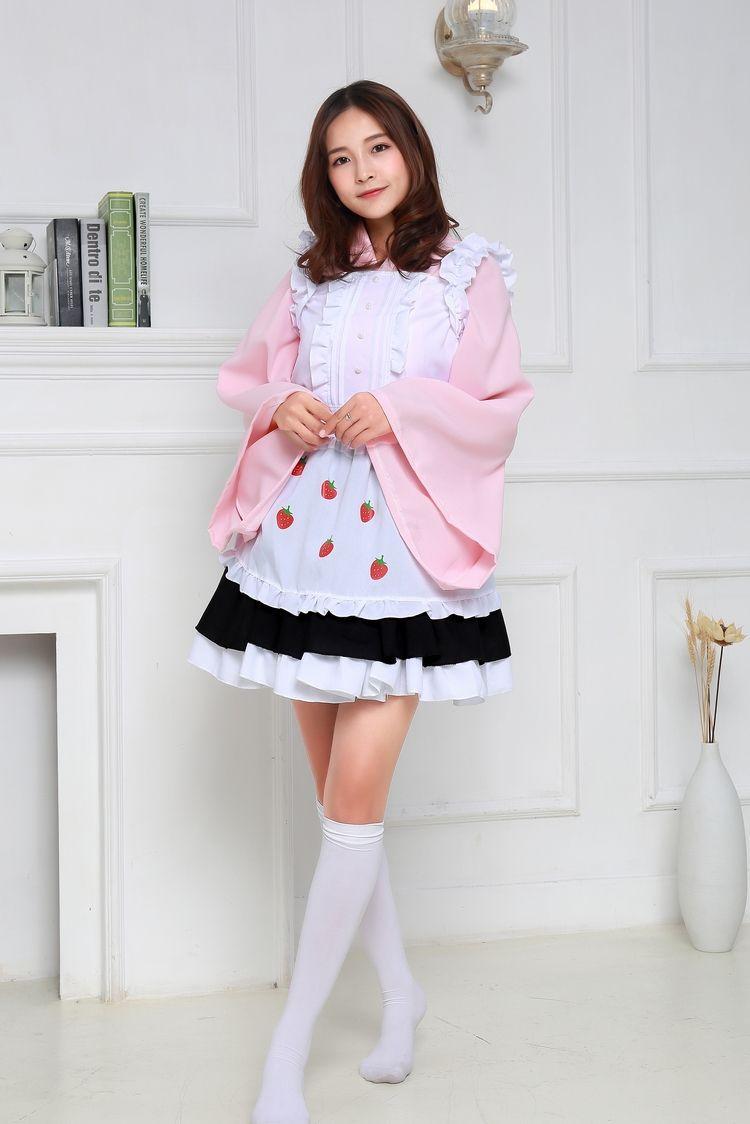 Halloween Strawberry maid cosplay erotic disfraces adultos Clothing game costumes for women fancy Cosplay party sexy costume