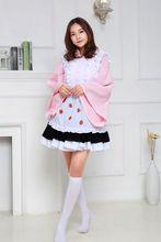 Fresa de Halloween maid cosplay erótico disfraces adultos Ropa trajes de juego para las mujeres de lujo del partido de Cosplay traje atractivo