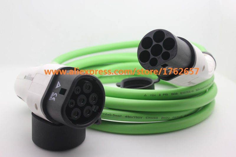 32A IEC62196-2 EV plug Type 2 to Type 2 Mennekes single phase EV connector electric vehicle charging station ev charger цена
