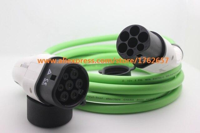 32a Iec62196 2 Ev Plug Type To Mennekes Single Phase Connector