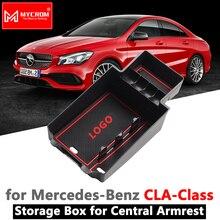 Caja de almacenamiento con reposabrazos para Mercedes Benz CLA C117 W117 2014 2015 2017 2018 2019 180 200 220 250 AMG 45 CLA250