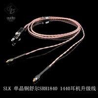 SLK аудио OCC Hi Fi стерео 6,35 кабель наушников обновления для SHURE SRH1840 SRH1440