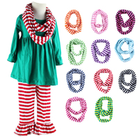 Free Shipping New Children's Striped Cotton Scarf Kids Boy Girl Ring Scarf Shawl Unisex Winter Knitting Collar Neck Warmer