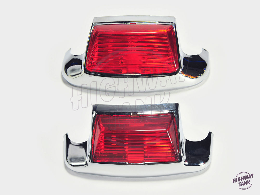 Red  Front / Rear Fender Tip Light  Lens For Harley FLHT Electra Glide Standard free shipping new front fender tip light red lens for flstc heritage softail classic electra glide