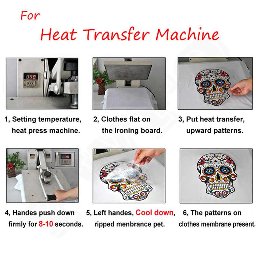 Kucing Ice Cream Setrika Transfer Transfer Panas Setrika Stiker T-shirt Termal Patch Bisa Dicuci Decal DIY Aksesori Appliques